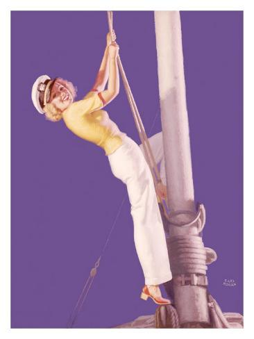 Pin-Up Girl: Sailboat Sailor Giclee Print