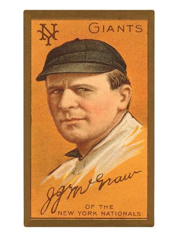 Early Baseball Card, John Mcgraw Art Print