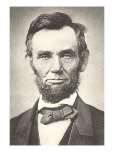 Early Photograph of Abraham Lincoln Art Print