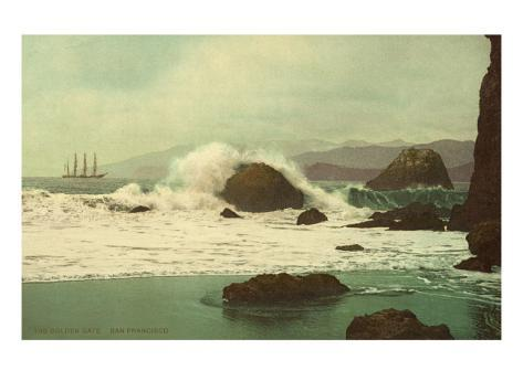 Early View of San Francisco Bay, California Stretched Canvas Print