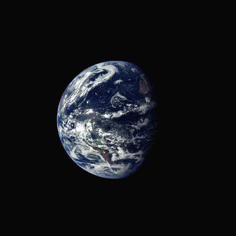 Earth Seen rrom Space Photographic Print