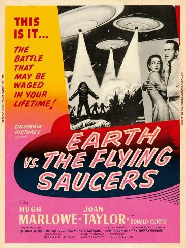 Earth vs. the Flying Saucers, 1956 Art Print
