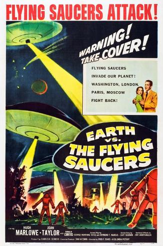 Earth vs. the Flying Saucers, 1956 Stampa artistica