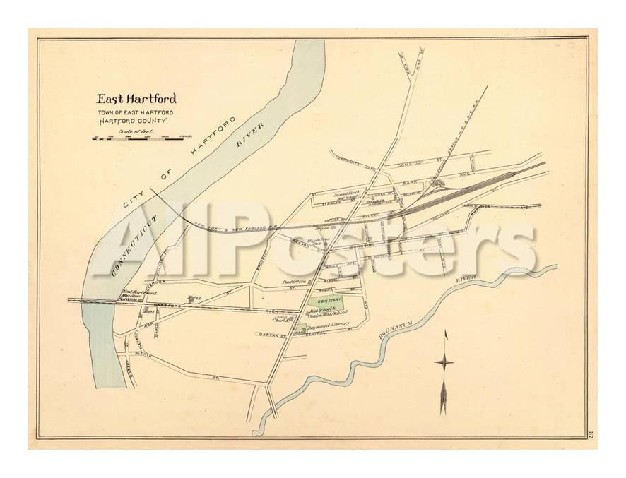 East Hartford Connecticut C 1893 Stretched Canvas Print Allposters Com