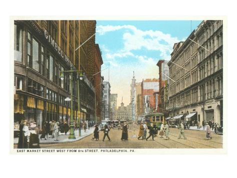 East Market Street, Philadelphia, Pennsylvania Art Print