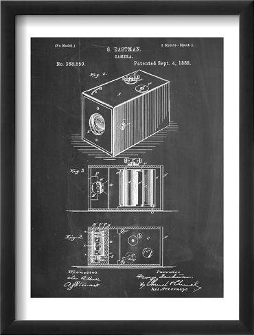 Eastman Vintage Camera Patent Framed Art Print