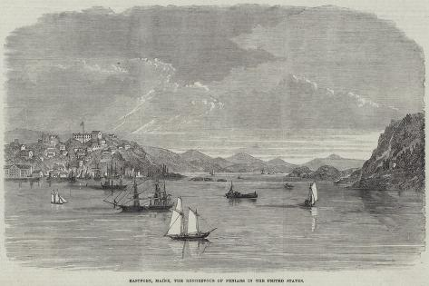 Eastport, Maine, the Rendezvous of Fenians in the United States Giclee Print