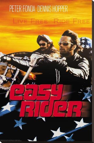 Easy Rider - Live Free Impressão em tela esticada