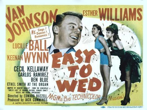 Easy to Wed, Van Johnson, Esther Williams, Lucille Ball, 1946 Photo