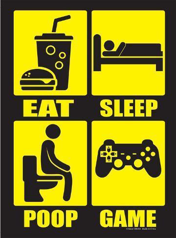 Eat Sleep Poop Repeat Tin Sign