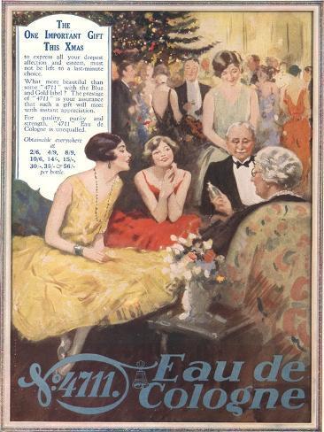 Eau De Cologne, UK, 1920 Stampa giclée