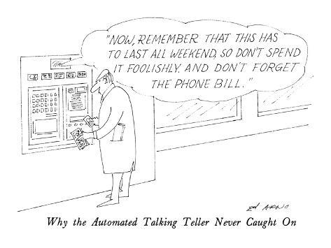 Why the Automated Talking Teller Never Caught On - New Yorker Cartoon Premium Giclee Print