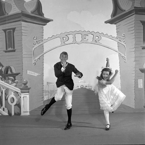 Debbie Reynolds with Co-Actor Carleton Carpenter on Set of the Film