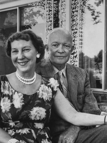 Former President Dwight D. Eisenhower and Wife Mamie at their Farm Photographic Print