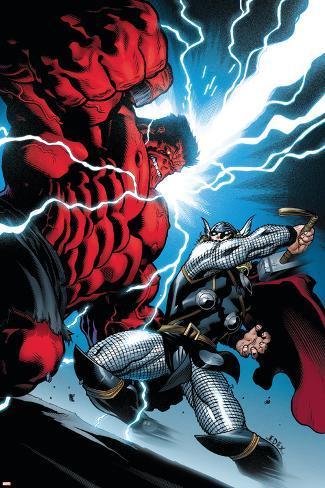 Hulk No.5 Cover: Hulk and Thor Poster
