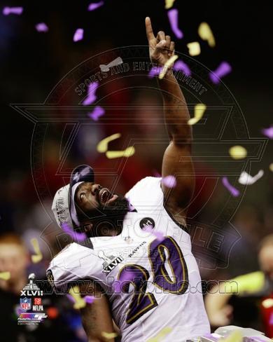 Ed Reed Super Bowl XLVII Celebration Photo