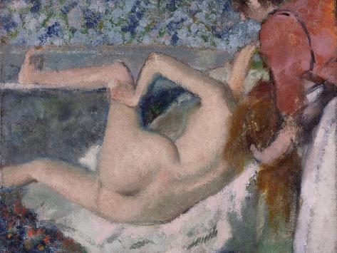 After the Bath, C.1895 Lámina giclée