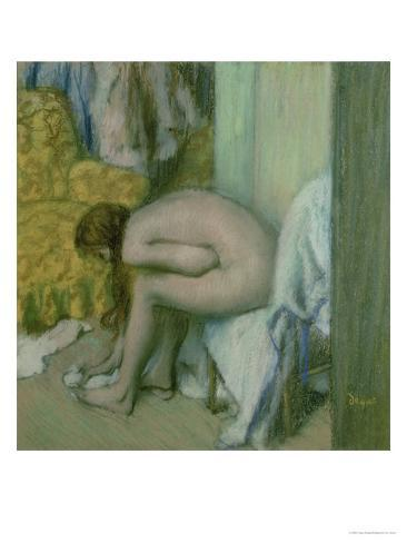 After the Bath, Woman Drying Her Left Foot, 1886 Giclee Print