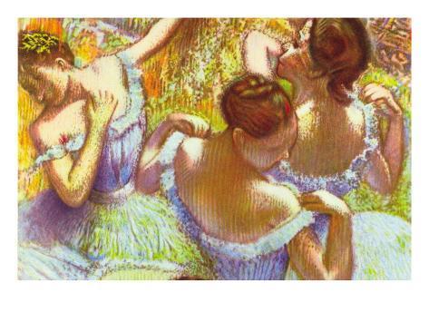 Bailarina en azul Vinilo decorativo
