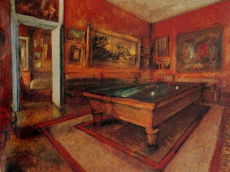Sala Da Biliardo Degas : Billiard room posters by edgar degas allposters