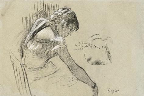 Dancer at Rest; Danseuse Au Repos, 1879 Lámina giclée