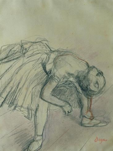 Dancer Fixing Her Slipper Giclee Print