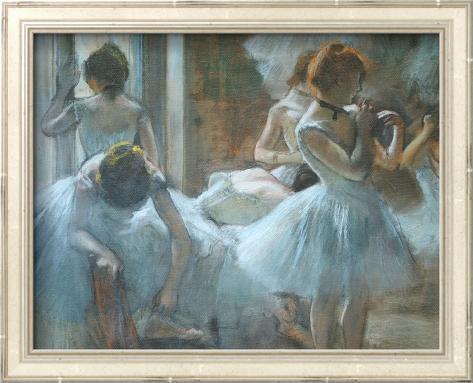 Dancers at Rest Arte con textura enmarcado