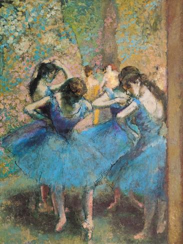 Dancers in Blue, c.1895 Giclee Print