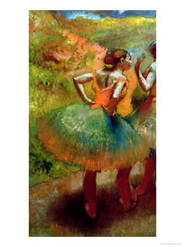 Dancers Wearing Green Skirts, circa 1895 Giclee Print