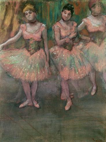 Dancers Wearing Salmon Coloured Skirts Lámina giclée