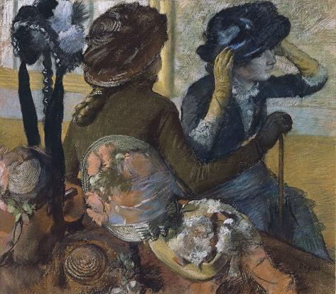 Dans la chapellerie, 1882 Stretched Canvas Print