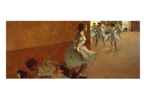 Danseuses Montant un Escalier Giclee Print
