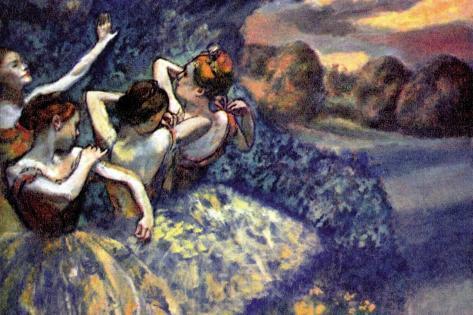 Four Dancers Vinilo decorativo