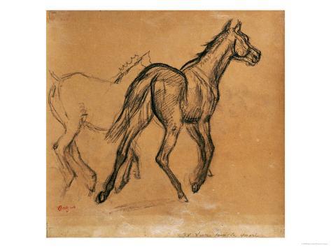 Horses, circa 1882 Giclee Print