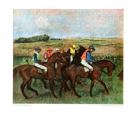 Jockeys at Training Collectable Print