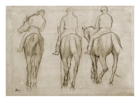 Jockeys Giclee Print
