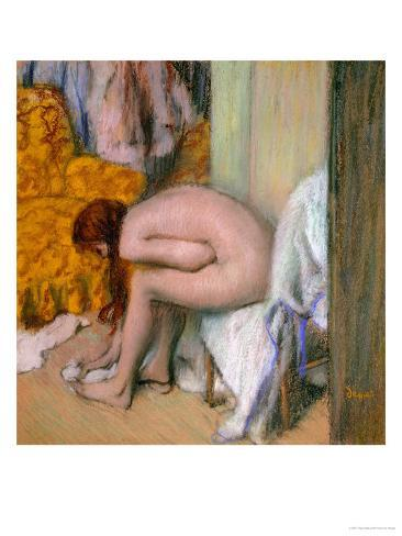 Nude, Drying Her Feet after the Bath Giclee Print