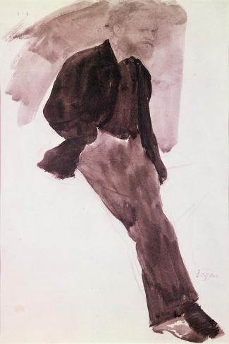 Portrait of Manet Impressão giclée