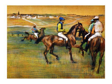 Race Horses Giclee Print