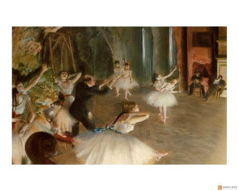 Rehearsal on Stage Giclee Print