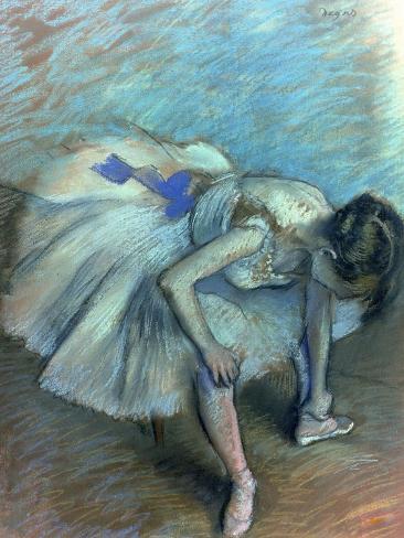 Seated Dancer, circa 1881-83 Giclee Print
