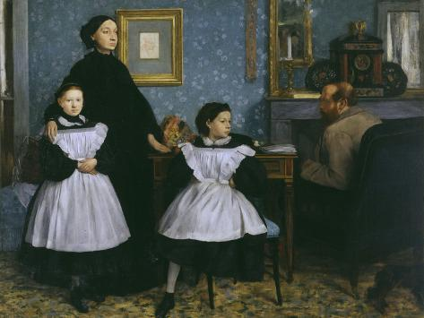 The Bellelli Family, c.1858 Giclee Print