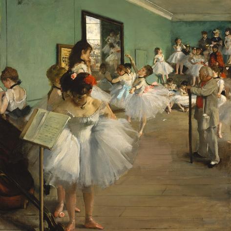 The Dance Class, 1873-74 Lámina giclée