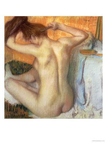 Woman Combing Her Hair, circa 1886 Giclee Print