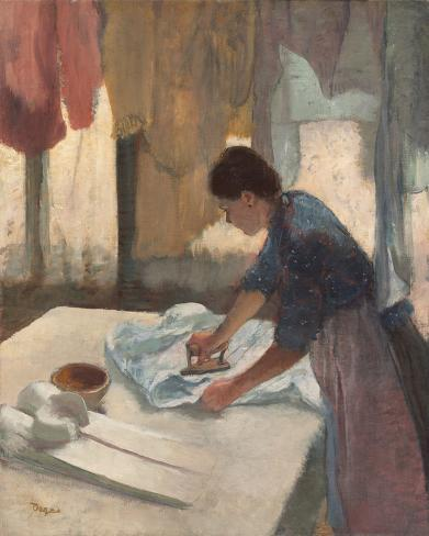 Woman Ironing, c.1876 - 1887 Lámina giclée