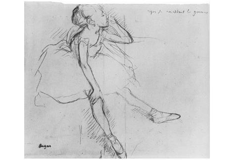 Edgar Germain Hilaire Degas (Little Dancer, relax) Art Poster Print Poster