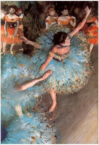 Edgar Germain Hilaire Degas (The green dancers) Art Poster Print Poster