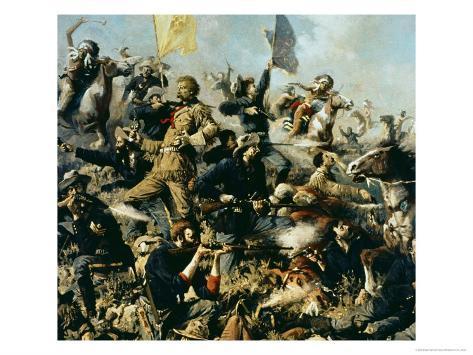 Battle of Little Bighorn, 25th June 1876 Giclee Print
