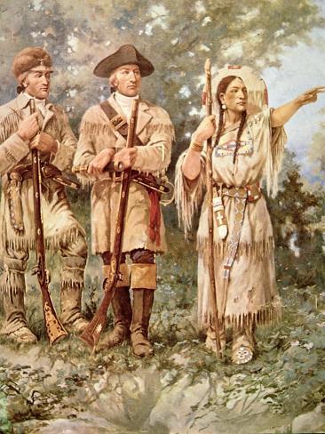 Lewis and Clark with Sacagawea Giclee Print