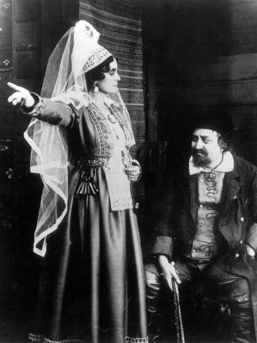Edith Erastoff and Victor Sjöström: Berg-Ejvind Och Hans Hustru, 1918 Photographic Print